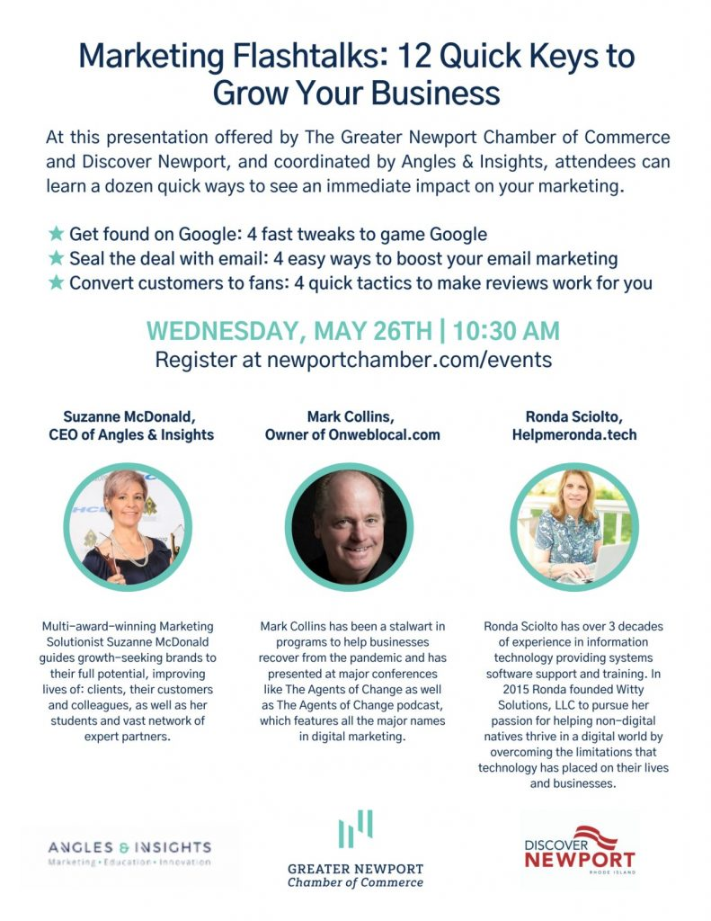 12 seo - review gathering - email marketing tips from the Newport RI chamber of commerce